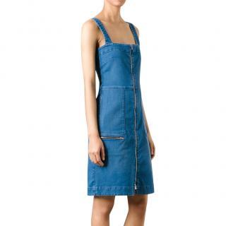 Stella McCartney Stretch-Denim Pinafore Dress