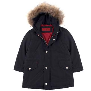 CH Carolina Herrera boys age 4 fur-trimmed parka