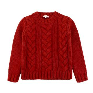 Gucci children's age 4 red wool-blend sweater