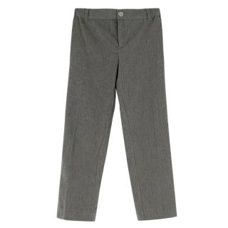 Boys & Girls Grey Pinstripe Trousers