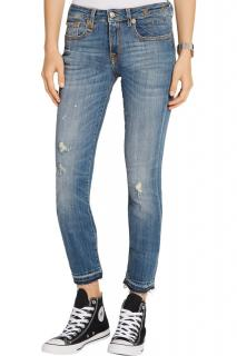 R13 Alison Cropped Jeans in Strummer Blue