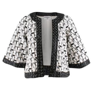 Chanel abstract-jacquard jacket