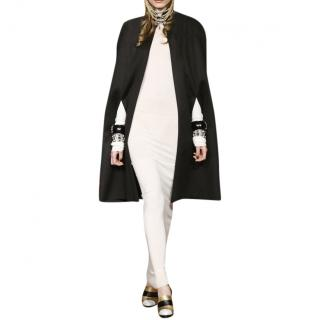 Chanel Paris-Moscow Collection Black Cashmere Cape