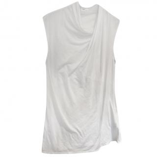 Helmut Lang white twisted top