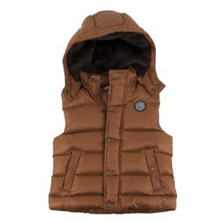 Marie Chantal Girl�s Bronze Puffer Gilet