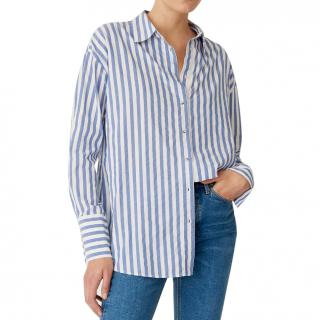 M.I.H Jeans White and Blue Striped Shirt