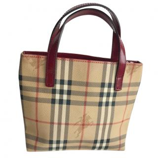 Burberry small vintage nova check handbag