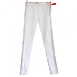 Off-White Industrial Belt Side White Denim Jeans