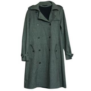 Theory Tweed Wool Blend Long Lined Coat