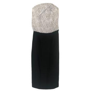Roland Mouret Embroidered Monochrome Midi-length dress