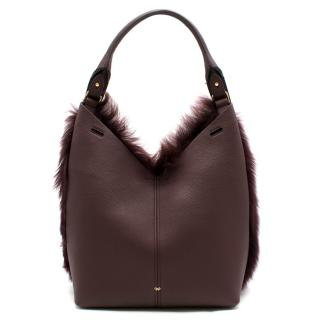 Anya Hindmarch Build a Bag Small shearling tote