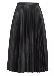 BCBG Max Azria Elsa pleated faux-leather skirt