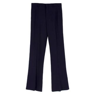 Gucci straight-leg navy crepe trousers