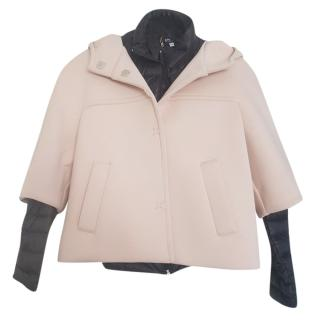 Marella Max Mara padded removable cape jacket