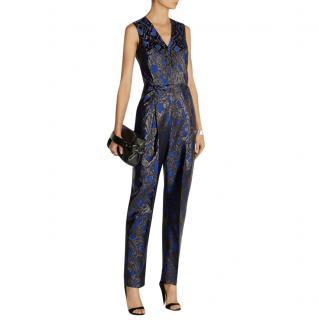 Marcus Lupfer Sophie blue brocade jumpsuit