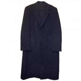 Ralph Lauren Chaps Men's Wool Trench Coat - Charcoal