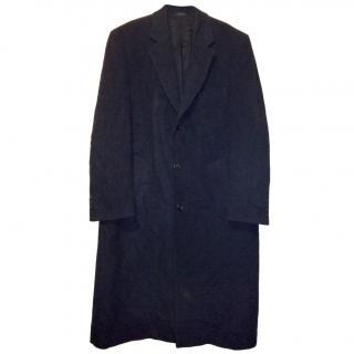 Ralph Lauren Chaps Men's Wool Trench Coat - Charcoal
