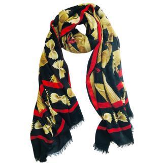 Dolce & Gabbana pasta cashmere blend scarf