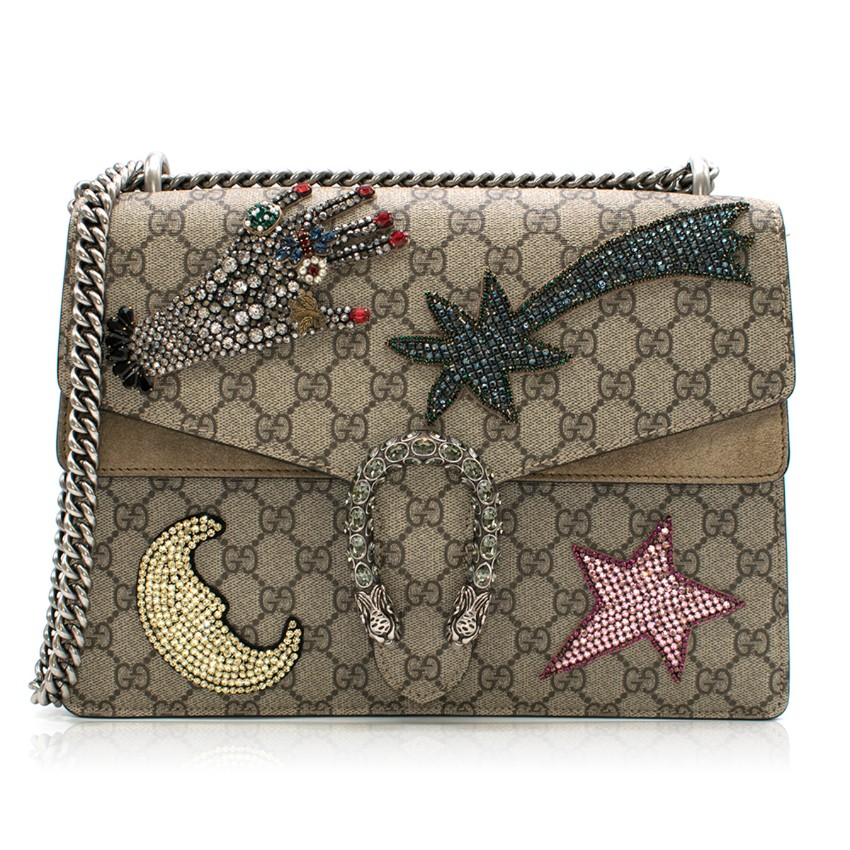 Gucci Dionysus GG Supreme Medium embellished shoulder bag