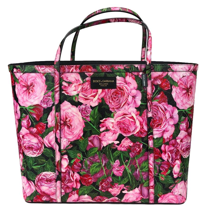14b427515b Dolce Gabbana Rose Print Large Shopper | HEWI London