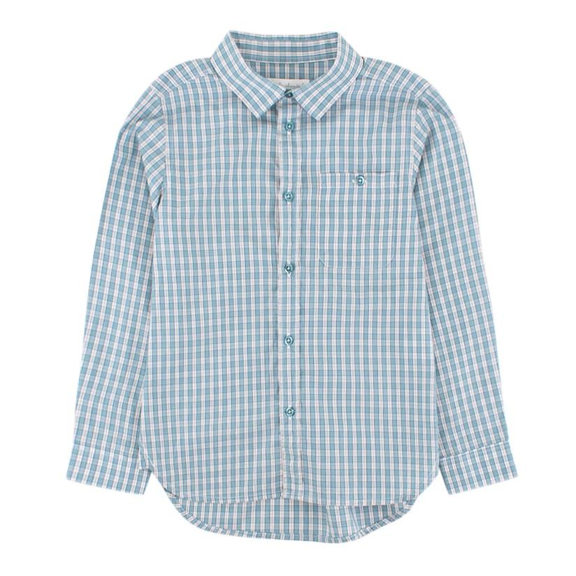 Marie Chantal Blue and White Check Shirt