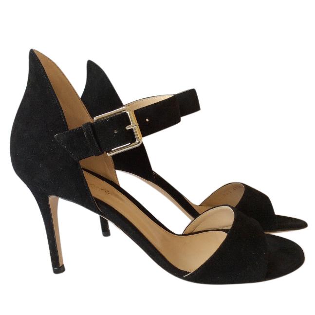 Gianvito Rossi black suede sandals