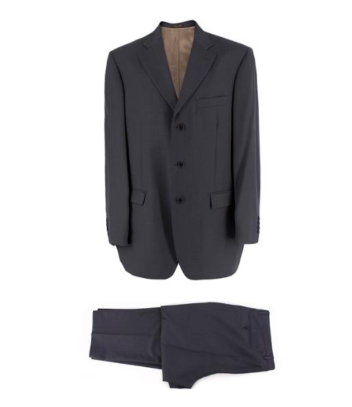 Lanificio di Tollegno grey pique suit