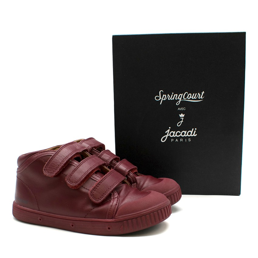 Jacadi Spring Court boys 29 high-top trainers