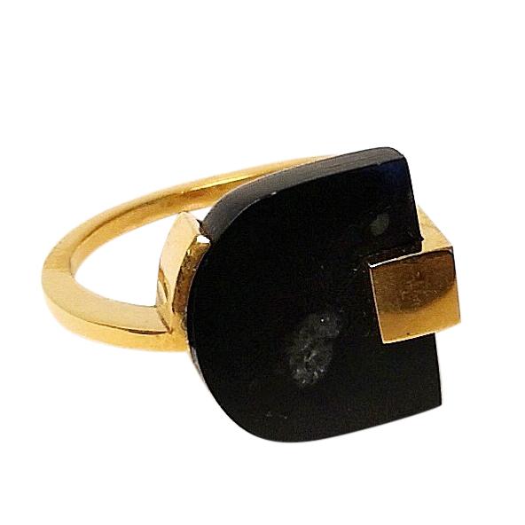 Marion Vidal Obsidian Signet Ring
