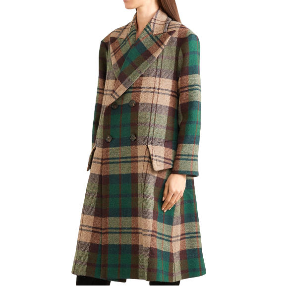 Vivienne Westwood Double Breasted Tartan Coat