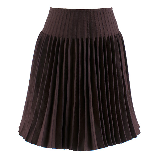 Alaia Wool-Blend Pleated A-line Skirt