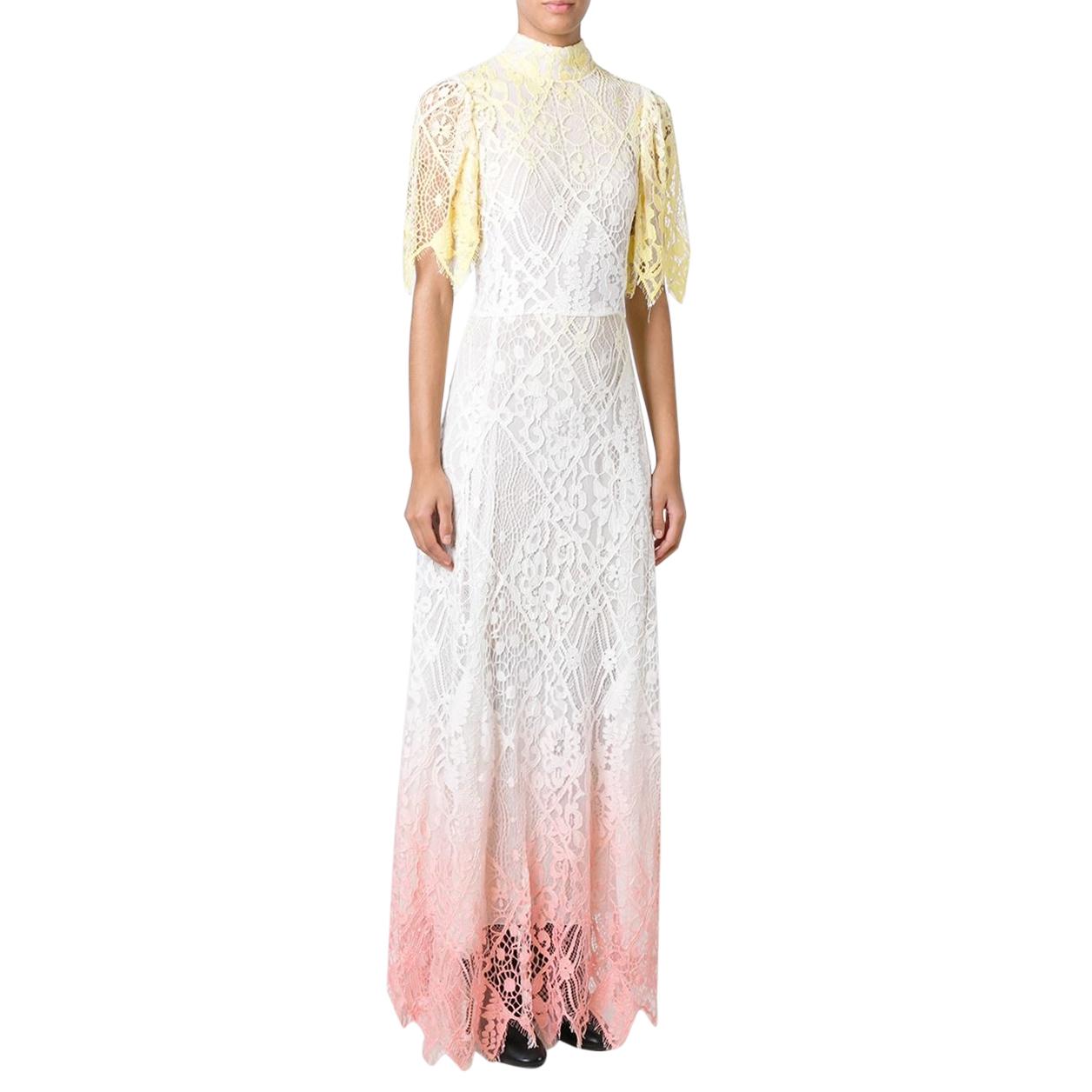 Giamba Embroidered Degrade Lace Dress