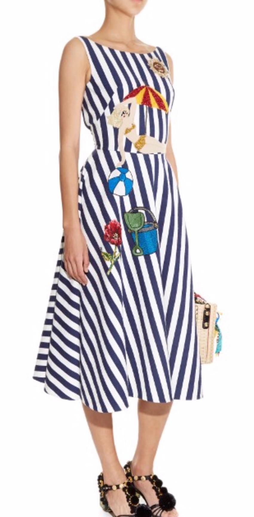 Dolce & Gabbana striped summer dress