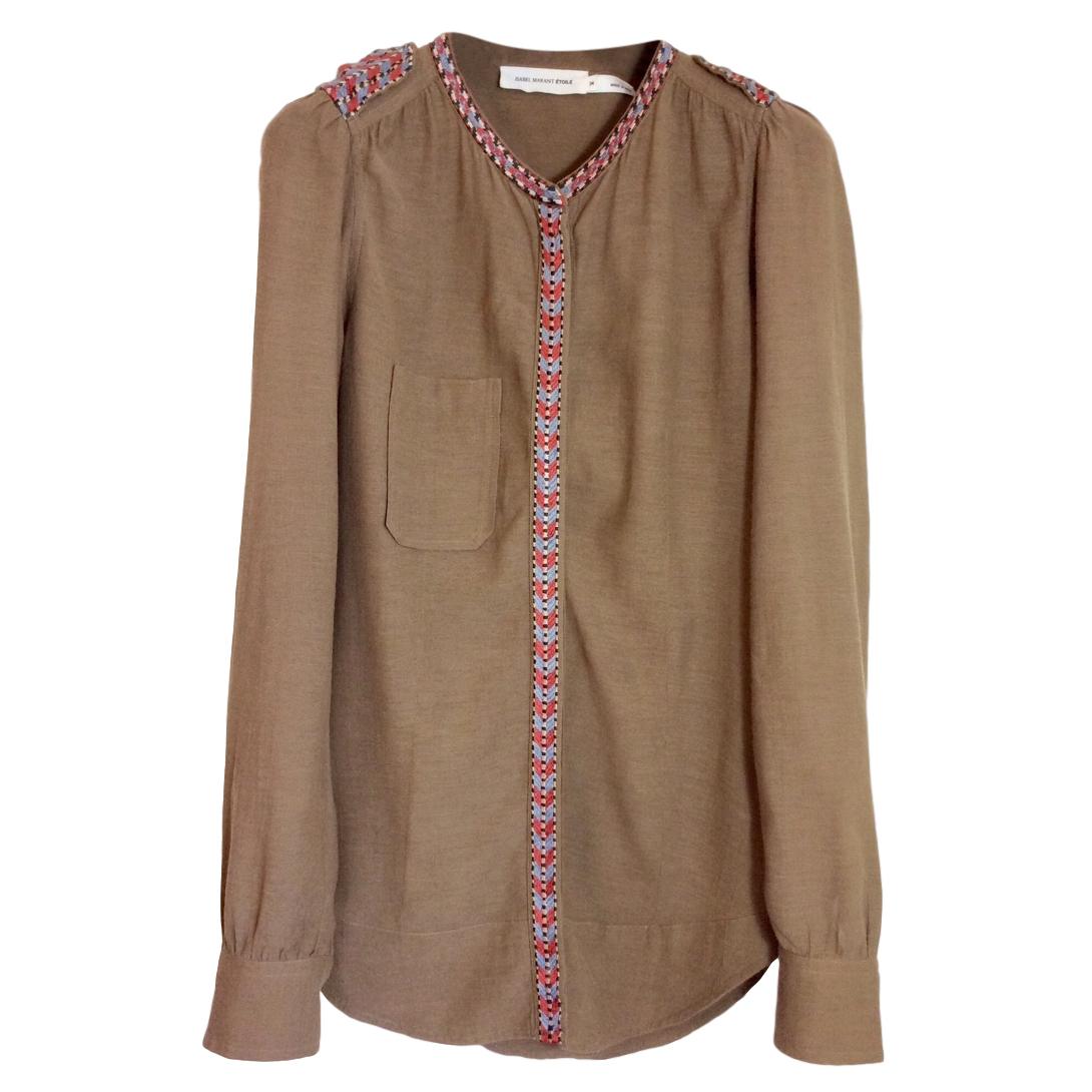 Isabel Marant Etoile Embroidered Shirt