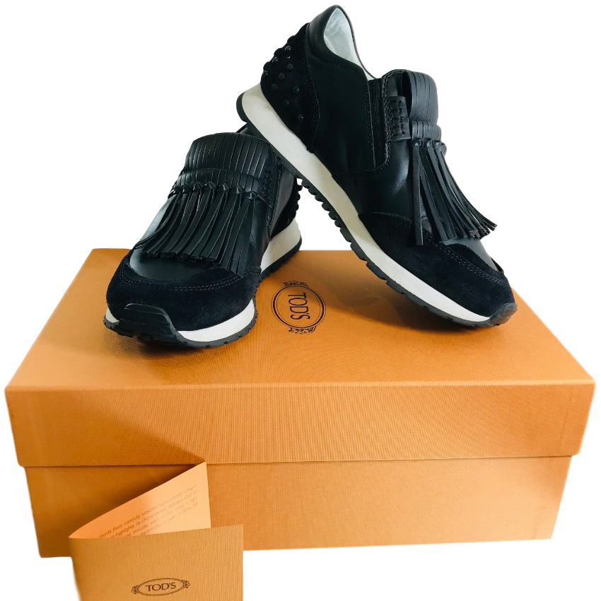 Tod's Leather Fringed Trainers