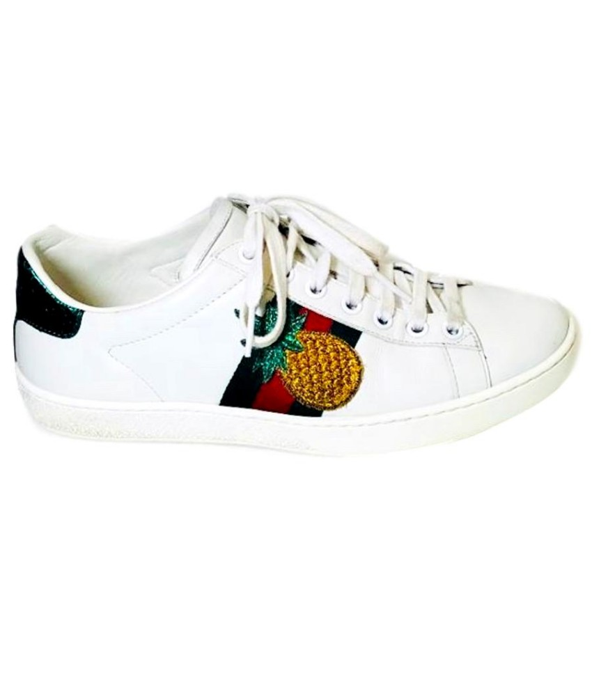 Gucci Pineapple Ladybird Ace Trainers