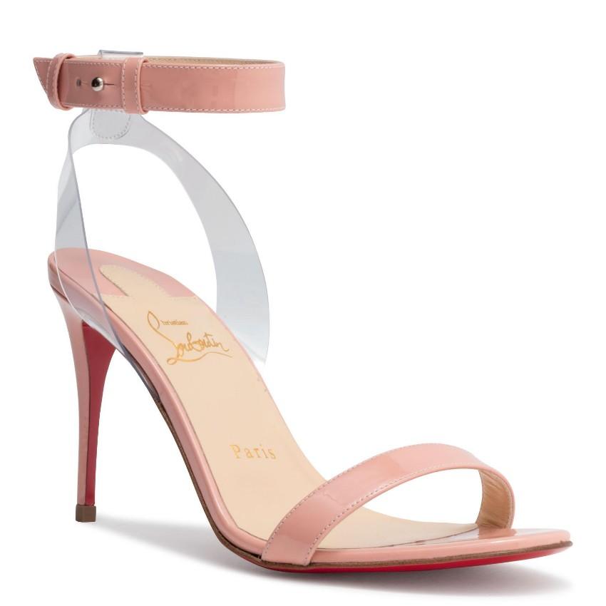 Christian Louboutin 'Jonatina' Patent Sandals in Light Pink - EU 39