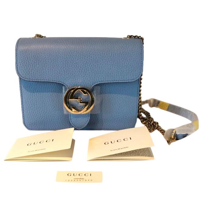 Gucci GG Interlocking Blue Shoulder Bag