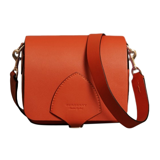 Burberry Leather Square Satchel - Clementine