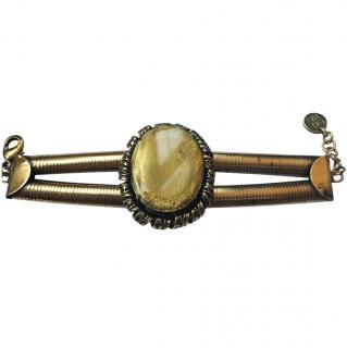 Carolina Herrera Vintage Brass tone Bracelet