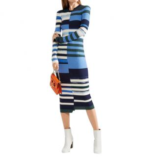 Opening Ceremony Blue Knit Midi Dress