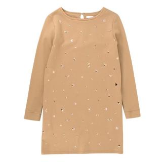 Chloe girls age 12 studded camel dress