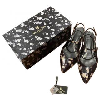 Massimo Dutti Limited Collection Floral Sandals
