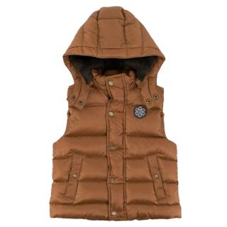 Marie Chantal Girl's Bronze Puffer Gilet