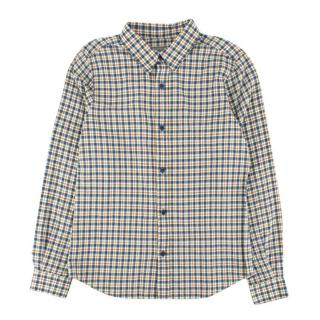 Bonpoint White and Blue Check Shirt