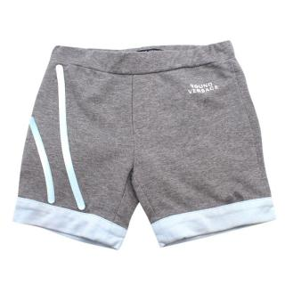 Young Versace 12 Month striped track shorts