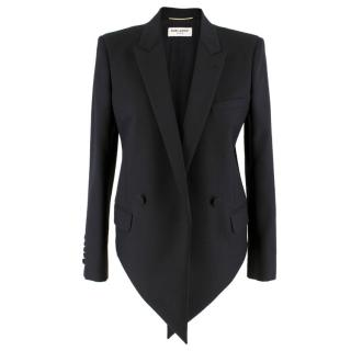 Saint Laurent Asymmetric Black Blazer