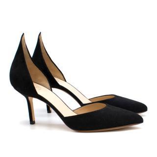 Francesco Russo d'Orsay suede mid-heel pumps - New Season