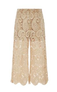 Self Portrait Cropped Lace Paisley Culottes