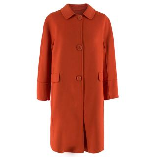 S Max Mara red double-faced wool-blend coat